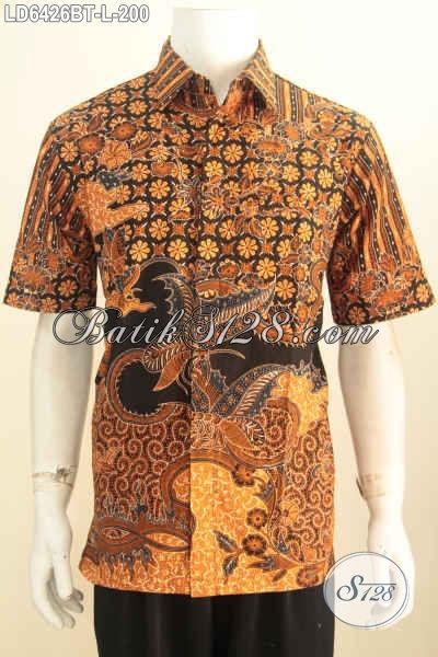 Hem Batik Kombinasi Tulis Warna Mewah Motif Berkelas Bahan Halus Asli Dari Solo, Pas Banget Buat Acara Formal, Size L