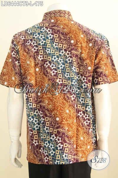 Sedia Produk Pakaian Batik Istimewa Khas Jawa Tengah, Baju Batik Modis Halus Proses Cap Tulis Untuk Baju Kerja Pria Muda Harga 175K [LD6444CT-L]