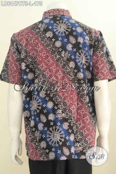 Di Jual Online Harga Grosir Produk Pakaian Batik Pria Ukuran L, Baju Batik Modis Motif Kombinasi Proses Cap Tulis Model Lengan Pendek, Cocok Buat Santai Dan Formal [LD6447CT-L]