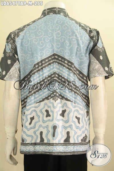 Hem Batik Tulis Halus Ukuran M, Kemeja Batik Motif Klasik Warna Alam Model Lengan Pendek Non Furing Harga 255K