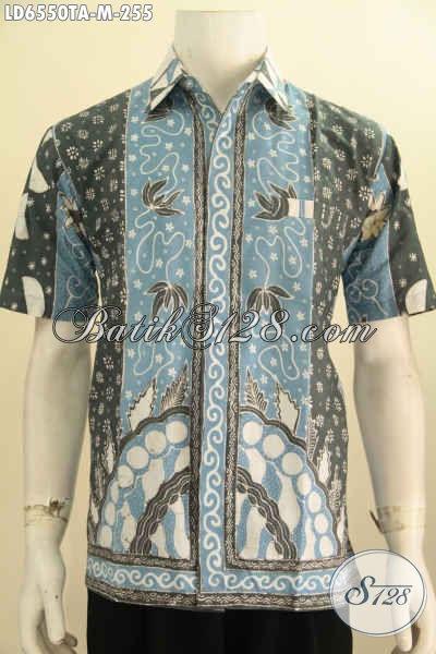 Jual Kemeja Batik Lengan Pendek Halus Motif Klasik Nan Elegan, Berbahan Halus Proses Tulis Warna Alam Lebih Lembut Dan Adem, Size M