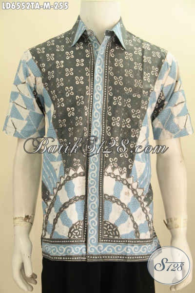 Jual Kemeja Tengan Pendek Batik Tulis Warna Alam, Hem Batik Halus Untuk Kondangan Dan Acara Formal, Size M