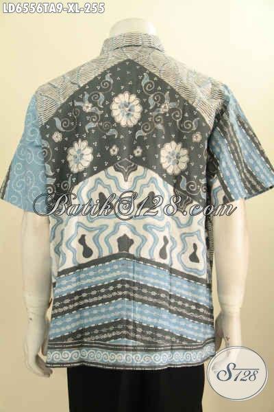 Baju Batik Elegan Size XL, Kemeja Batik Klasik Lengan Pendek Proses Tulis Warna Alam Bahan Adem Untuk Tampil Gagah Dan Gaya