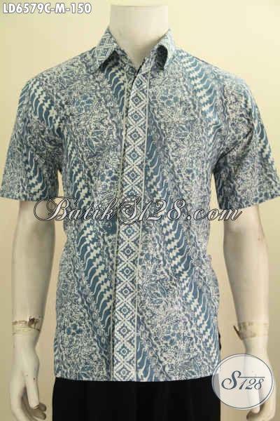 Pusat Baju Batik Online Kawula Muda Buatan Solo, Sedia Hem Lengan Pendek Keren Motif Bagus Proses Cap Harga150K [LD6579C-M]