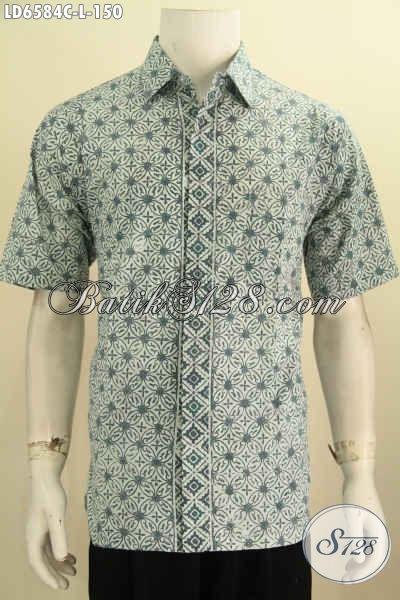 Kemeja Batik Pria Lengan Pendek Motif Menarik Warna Kalem Cocok Untuk Anak  Muda eff785f3a5