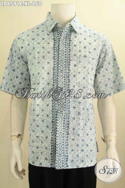 Jual Online Kemeja Batik Modern Khas Jawa Tengah, Produk Pakaian Batik Halus Buatan Solo Buat Pria Tampil Gaya, Proses Cap Ukuran XL