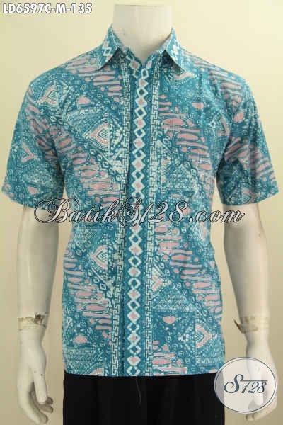 Hem Batik Kawula Muda, Hadir Dengan Motif Elegan Proses Cap, Pakaian Batik Solo Lengan Pendek Warna Cerah Tampil Lebih Fresh Dan Modis [LD6597C-M]