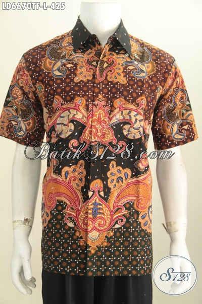 Jual Online Kemeja Batik Istimewa, Baju Batik Pria Kantoran Motif Bagus Proses Tulis Daleman Full Furing, Bikin Penampilan Lebih Mempesona [LD6670TF-L]