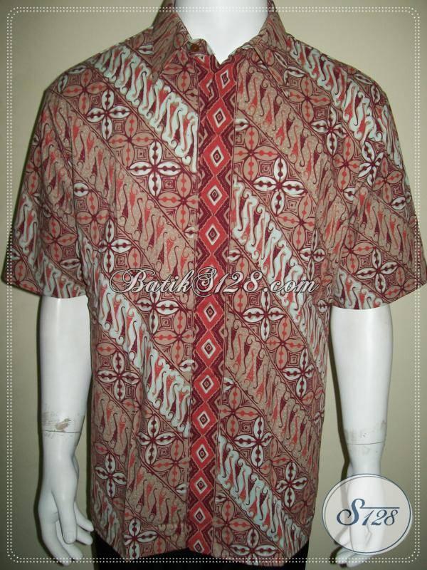 Baju Batik Exclusive Lengan Pendek Pria Modern Motif
