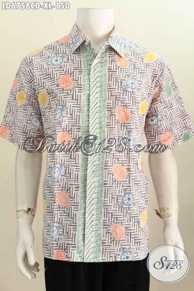 Jual Online Hem Batik Jawa Tengah, Pakaian Batik Solo Halus Lengan Pendek Motif Bagus, Cocok Untuk Santai Dan Seragam Kerja, Size XL
