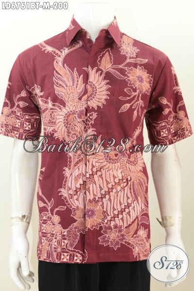Hem Batik Elegan Dan Mewah, Pakaian Batik Istimewa Motif Terkini Proses Kombinasi Tulis Pas Banget Untuk Ke Kantor, Size M