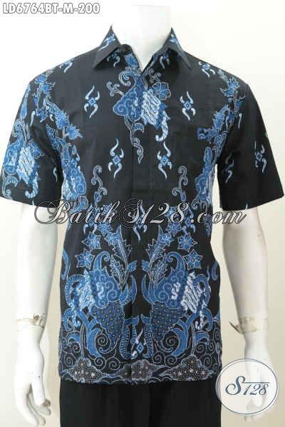 Koleksi Terkini Hem Lengan Pendek Batik Kombinasi Tulis Dasar Hitam Harga 200 Ribu, Size M Cocok Untuk Santai Dan Formal