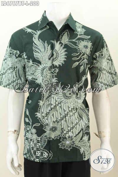 Sedia Baju Batik Modis Dan Keren, Busana Batik Cowok Terbaru Berbahan Halus Proses Kombinasi Tulis Berpadu Motif Terkini Yang Membantu Penampilan Lebih Istimewa [LD6767BT-L]