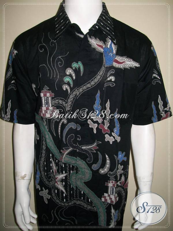 Kemeja Batik Tulis Warna Hitam Untuk Pria Modern