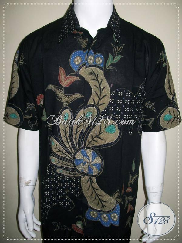 Baju Batik Tulis Pria Terbaru Warna Hitam Ukuran Xl