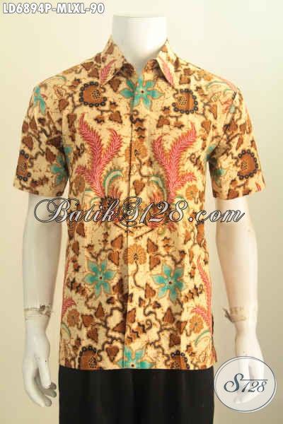 Kemeja Batik Lengan Pendek Cowok Baju Batik Halus Modern