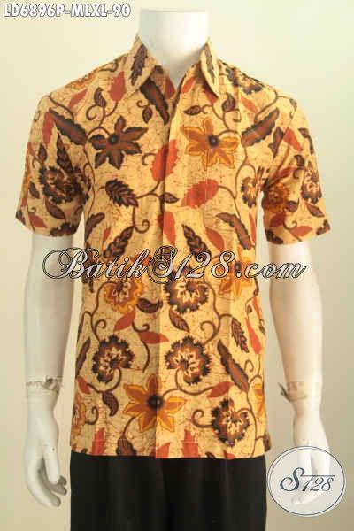 Baju Batik Cowok Motif Terbaru Hem Batik Lengan Pendek