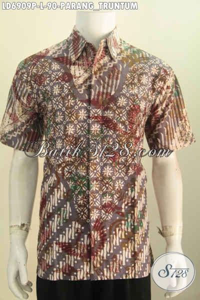Kemeja Batik Klasik Parang Truntum, Busana Batik Pria Ukuran L Bahan Halus Proses Printing Harga 90 Ribu Pas Buat Kerja [LD6909P-L]