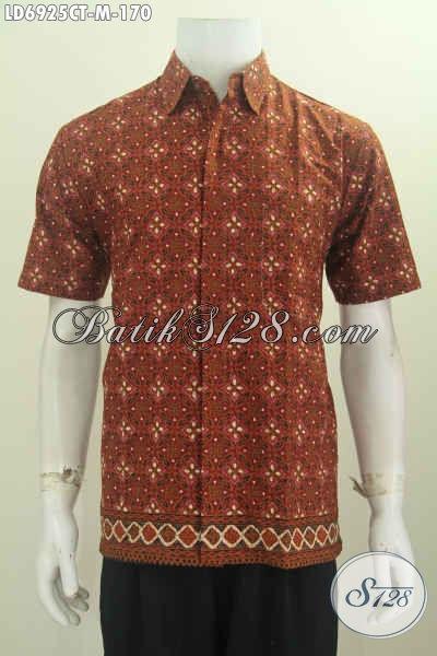 Jual Produk Kemeja Batik Lengan Pendek Elegan Motif Berkelas Untuk Pria Terlihat Mdoern Dan Berkarakter Proses Cap Tulis [LD6925CT-M]