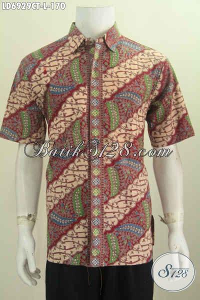 Baju Hem Keren Buatan Solo, Pakaian Batik Modis Halus Kwalitas Istimewa Proses Cap Tulis Harga 170K [LD6929CT-L]