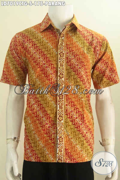 Hem Batik Cap Tulis Gradasi, Baju Batik Pria Lengan Pendek Halus Motif Elegan Untuk Kerja Dan Acara Formal [LD7019CTG-S]