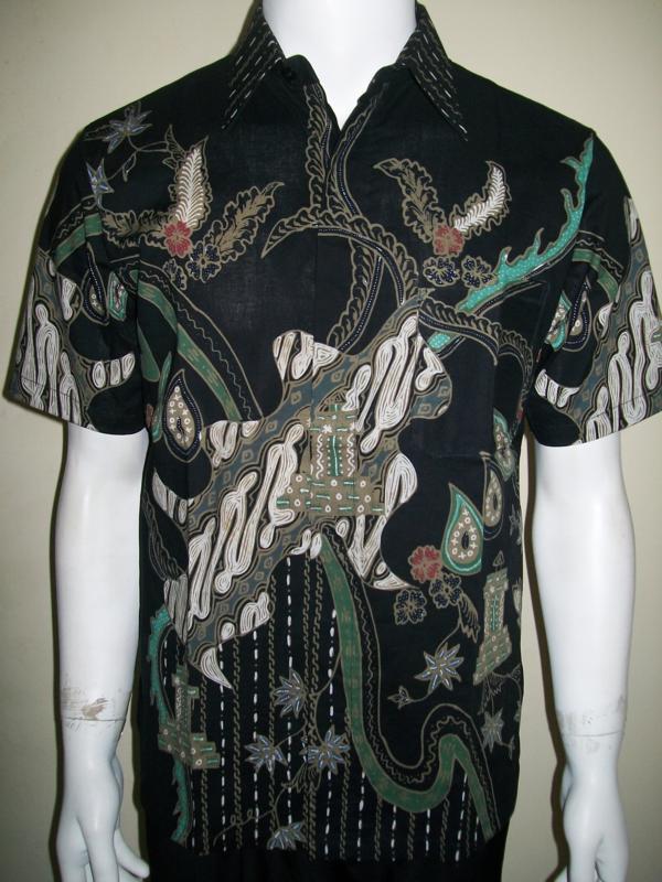 Baju Batik Remaja Pria Modern Warna Hitam Keren Unik Dan