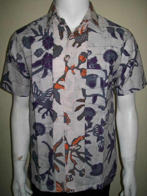 Batik Pria Putih Harga 130 Ribuan, Cap Tulis, Dijual Online [LD718CT-S]