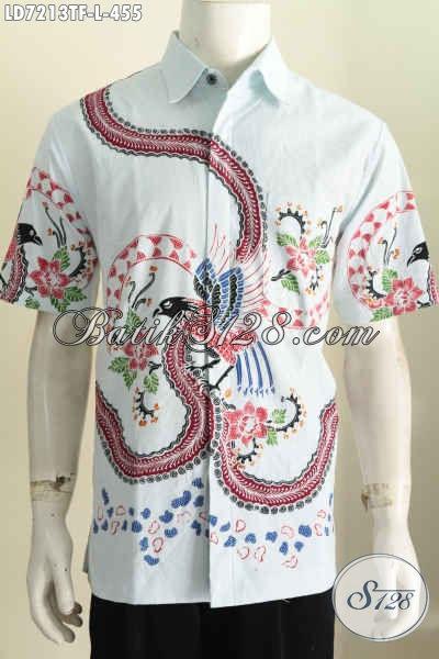 Hem Batik Keren Untuk Pria Baju Batik Cowok Dasar Putih