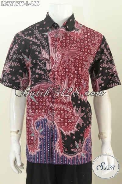 Busana Batik Premium Nan Istimewa, Baju Batik Jawa Etnik Lengan Pendek Full Furing Kwalitas Mewah Untuk Penampilan Lebih Berkelas [LD7217TF-L]