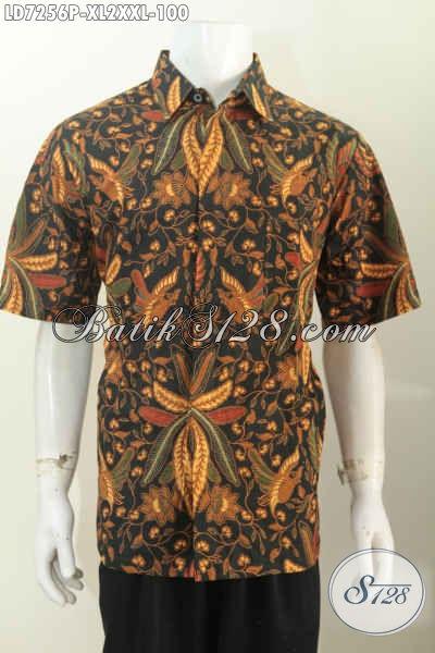 Baju Batik Elegan Lengan Pendek Untuk Pria Tampil