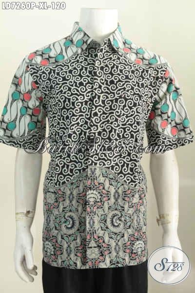 Hem Batik Pria Dewasa, Pakaian Batik Keren Dan Elegan Desain Formal Bahan Adem Proses Printing, Cocok Untuk Seragam Kerja [LD7260P-XL]