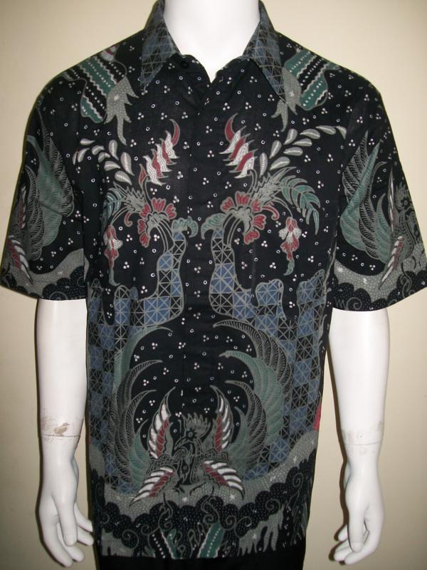 Kemeja Batik Hitam, Batik Tulis Mewah Eksklusif Dan Elegan [LD736T-XL]