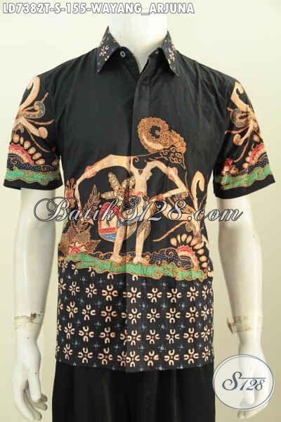 Jual Baju Batik Wayang Motif Arjuna, Busana Batik Solo Elegan Bahan Adem Proses Tulis Harga 100 Ribuan, Size S