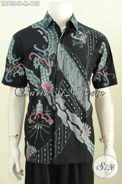 Baju Batik Tulis Paling Murah, Hadir Dengan Kwalitas Bahan Halus Motif Keren Model Lengan Pendek, Di Jual Online Harga 155 Ribu [LD7384T-M]