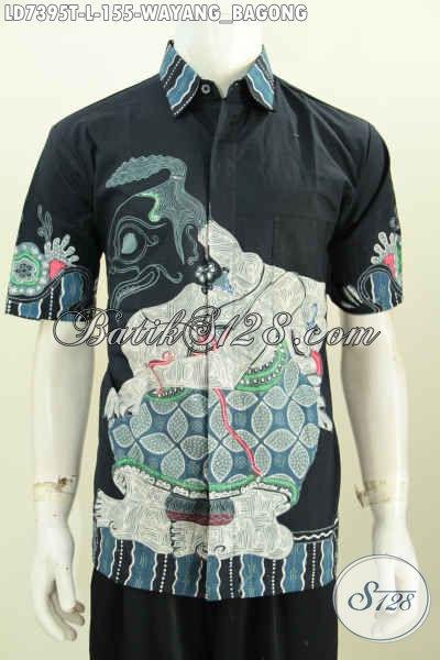 Jual Baju Batik Tulis Halus Harga Murmer, Pakaian Batik Solo Halus Motif Bagong Lengan Pendek Tampil Lebih Keren, Size L