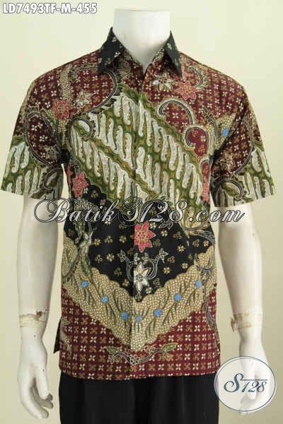 Busana Batik Elegan, Pakaian Bati Pria Muda Untuk Tampil Gagah Mempesona Proses Tulis Daleman Full Furing [LD7493TF-M]