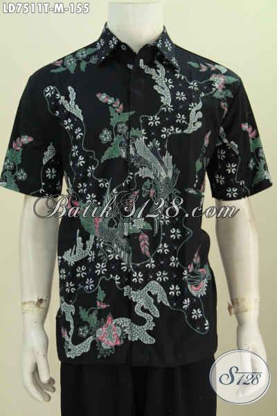 Hem Batik Tulis Harga Murmer, Pakaian Batik Keren Untuk Pria Muda Model Lengan Pendek Tampil Makin Bergaya [LD7511T-M]