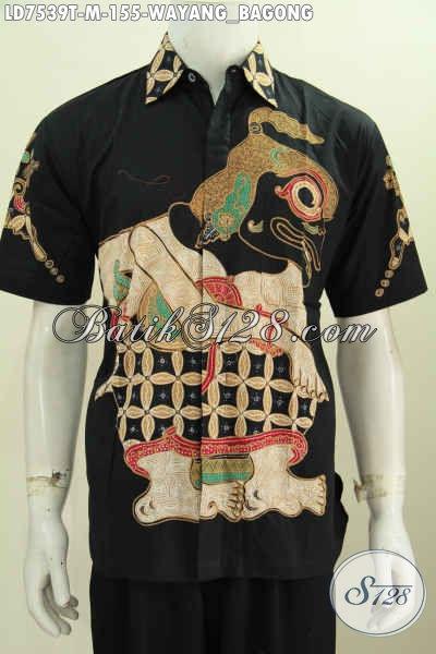 Pusat Batik Online Tempat Upgrade Fashion Batik Pria, Sedia Kemeja Batik Tulis Halus 100 Ribuan Kwalitas Istimewa Motif Bagong [LD7539T-M]
