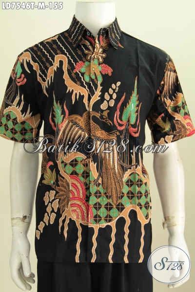 Baju Batik Hem Lengan Pendek Proses Tulis Kwalitas Bagus Hanya 155K Pria Tampil Gagah Dengan Harga Murah Meriah [LD7546T-M]