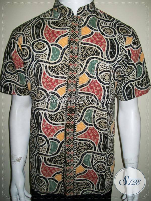 Baju Batik Lebaran Pria Kerah Shanghai Koko Modern, Motif Unik [LD758CTK-M]