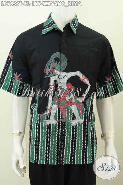 model baju batik lengan pendek terbaru motif wayang bima/werkudoro