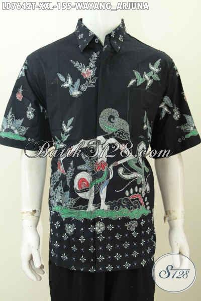 Kemeja Batik Trendy Buat Kerja Dan Hangout, Pakaian Batik Keren Proses Tulis Bahan Adem Nyaman Tampil Makin Menawan [LD7642T-XXL]