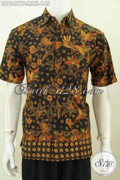 Baju Batik Seragam Kerja, Hem Batik Lengan Pendek Motif Klasik Proses Kombinasi Tulis Di Jual Online 145K [LD7647BT-XL]