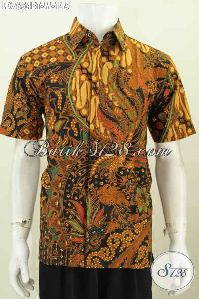 Toko Online Batik Lengkap Banyak Pilihan, Jual Hem Lengan Pendek Klasi Kwalitas Halus Berkelas Hanya 145K [LD7654BT-M]
