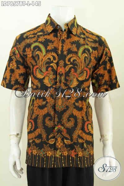 Toko Baju Batik Online Paling Lengkap, Sedia Hem Lengan Pendek Modis Dan Elegan Untuk Tampil Gagah Dan Bergaya Proses Kombinasi Tulis [LD7657BT-L]