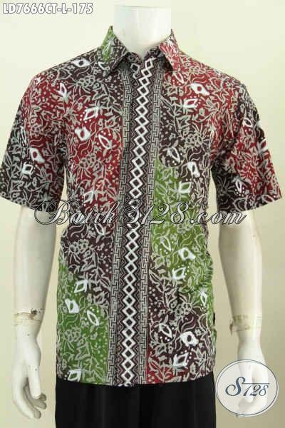 Sedia Kemeja Batik Solo Halus Proses Cap Tulis, Pakaian Batik Istimewa Buat Tampil Keren Dan Mempesona Asli Buatan Solo [LD7666CT-L]