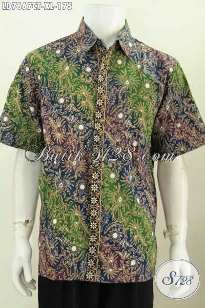 Baju Hem Batik Jawa Etnik, Kemeja Batik Modern Kwalitas Bagus Model Lengan Pendek Proses Cap Tulis Hanya 175 Ribu [LD7667CT-XL]