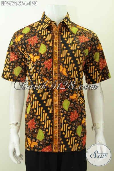 Baju Batik Santai Modis Motif Bagus Proses Cap Tulis, Pakaian Batik Lengan Pendek Istimewa Cocok Juga Untuk Acara Resmi [LD7676CT-L]