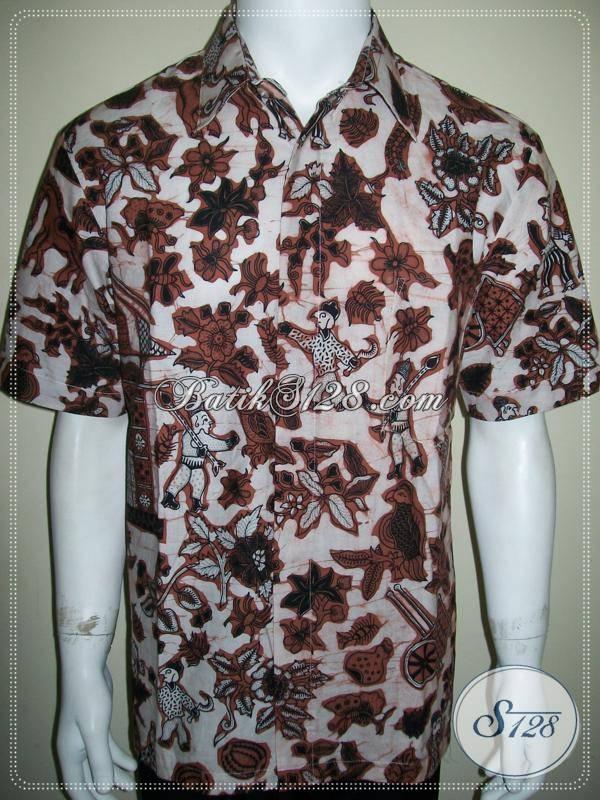 Batik Kumpeni / Kompeni, Baju Batik Pria Motif Unik, Exclusive, Harga Seratus Ribuan [LD769CT-L]