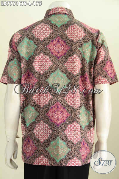 Batik Hem Halus Motif Kombinasi Warna Cerah, Modis Untuk Santai Dan Formal, Berbahan Halus Proses Cap Tulis Hanya 175K [LD7751CT-L]
